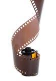 isolerad negativ rulle för 35mm classic film Arkivfoto