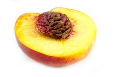 Isolerad nektarinfrukt Fotografering för Bildbyråer