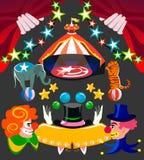 Isolerad objekt för cirkus uppsättning och erforderligt Royaltyfria Bilder