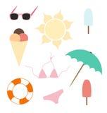 Sommarbeståndsdelar Arkivbilder