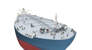 isolerad olja över tankfartygwhite Royaltyfria Bilder