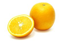 isolerad orange Arkivfoton