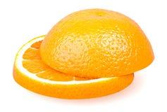 Isolerad orange frukt Arkivfoton