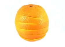 Isolerad orange frukt Arkivfoto