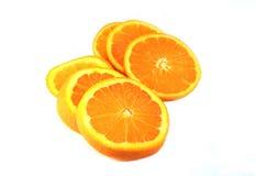 Isolerad orange frukt Fotografering för Bildbyråer