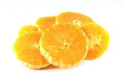 Isolerad orange frukt Arkivbilder