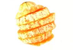 Isolerad orange frukt Arkivbild