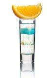 isolerad orange kort skiva för alkohol coctail Royaltyfria Bilder