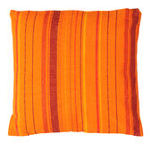 isolerad orange kudde Royaltyfri Foto