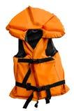 isolerad orange liten vest för livstid Arkivbild
