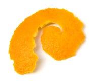 isolerad orange peel royaltyfri fotografi