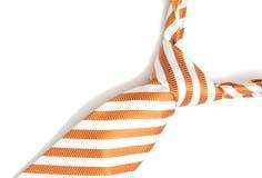 isolerad orange tie Royaltyfri Foto