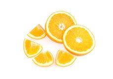 isolerad orange white för bakgrund frukt Fotografering för Bildbyråer