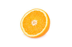 isolerad orange white för bakgrund frukt Royaltyfria Bilder