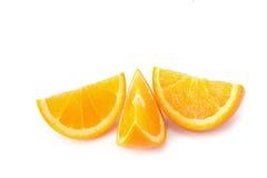 isolerad orange white för bakgrund frukt Royaltyfri Fotografi