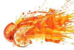 isolerad orange white för fruktsaft stock illustrationer