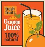 isolerad orange white för fruktsaft vektor illustrationer