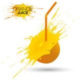 isolerad orange white för fruktsaft Royaltyfri Illustrationer