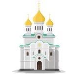 Isolerad ortodox kyrka Fotografering för Bildbyråer
