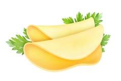 isolerad ost Ostskiva som isoleras på vit bakgrund med den snabba banan Arkivbild