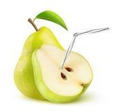 Isolerad päronfruktsaft Arkivbild