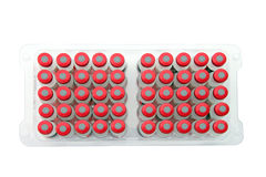isolerad packande vaccineraa white Royaltyfri Fotografi
