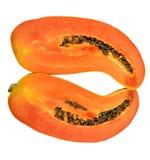 isolerad papaya Fotografering för Bildbyråer
