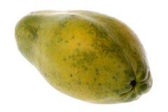 isolerad papaya Arkivfoto