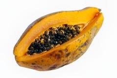 Isolerad papaya med frö Royaltyfria Foton