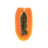 isolerad papaya skivad white Arkivbild