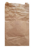 Isolerad pappers- påse - brunt Arkivfoton