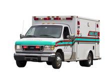 isolerad paramedicinsk skåpbil Royaltyfria Bilder