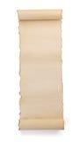 isolerad parchmentscrollwhite arkivbilder