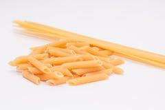 Isolerad pasta Fotografering för Bildbyråer