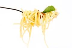 Isolerad pasta på Royaltyfri Fotografi