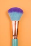 Isolerad pastellfärgad bakgrund för smink borstar Royaltyfri Fotografi