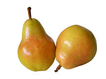 isolerad pear Arkivfoton
