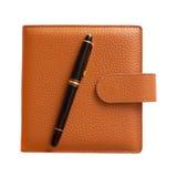 isolerad penna för dagbok springbrunn Royaltyfria Foton