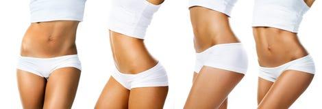 Isolerad perfekt kvinnlig kropp Fotografering för Bildbyråer