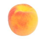 isolerad persika för bakgrund close upp vit yellow royaltyfria bilder