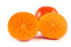 isolerad persimmon Arkivfoto