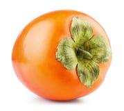 Isolerad persimonfrukt Arkivfoton