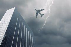 isolerad photoshop för flygplan flyg Arkivfoto