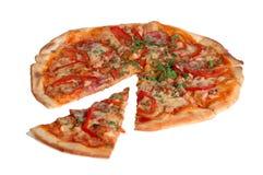 isolerad pizza Arkivfoton
