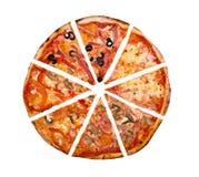 isolerad pizza Fotografering för Bildbyråer