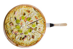 isolerad pizza Arkivbilder