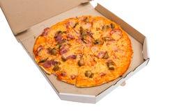 isolerad pizza Arkivfoto