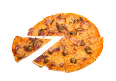 isolerad pizza Royaltyfria Bilder