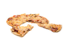 isolerad pizza Arkivbild
