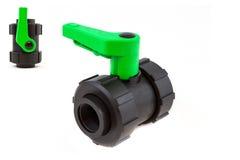 Isolerad plast- manuell ventil Arkivbild